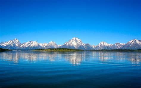 grand teton mountain lake reflections wallpapers hd