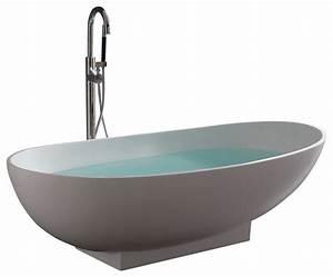 Stand Alone Resin Bathtub - Modern - Bathtubs - by ADM