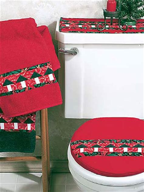 christmas trees bath set free quilting pattern