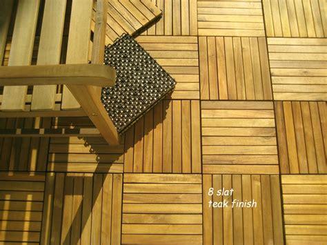 acacia wood interlocking deck tiles