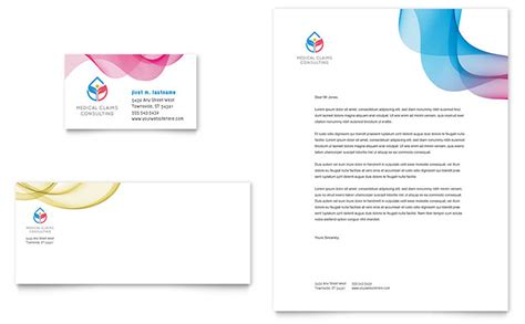 insurance consulting business card letterhead template