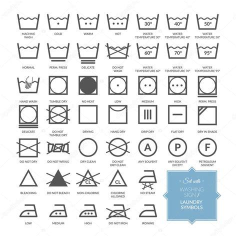 sertie de ligne lavage linge symboles et ic 244 nes image vectorielle brilliantskylight