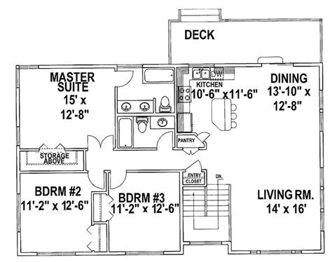 pin  mary bech  house plans   split level house plans split level floor plans tri