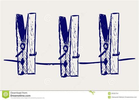 pinces 224 linge sur la corde illustration de vecteur image 26595764