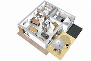 emejing modele interieur maison contemporaine images With modele de maison a construire