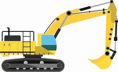 Construction Excavator Equipment Transparent Engineering Heavy Bagger