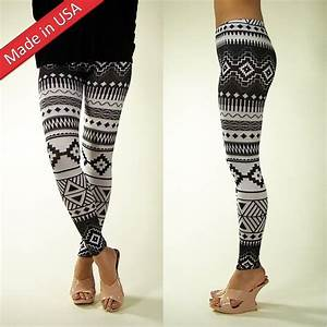 New 2013 Trendy Black White Aztec Tribal Cute Leggings Tights Pants Made in USA | eBay