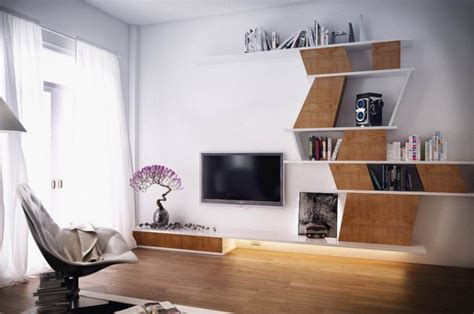 trendy tv wall units   modern living room