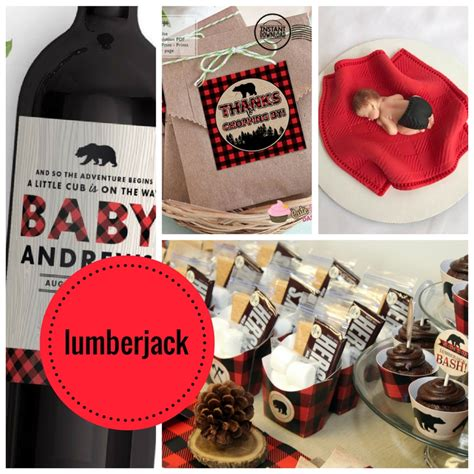 lumberjack baby shower collection baby shower ideas