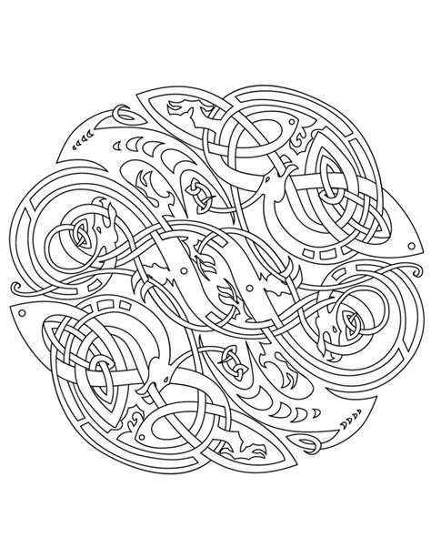 celtic mandala celtic vector colouring book  ikue