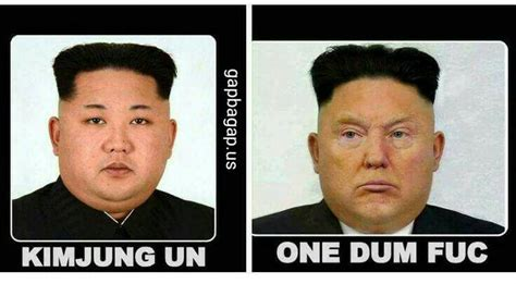 Kim And Trump Memes - image result for donald trump and kim jong un memes trump toons pinterest donald trump