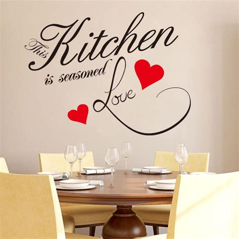 stickers phrase cuisine image gallery kitchen wall decals removable