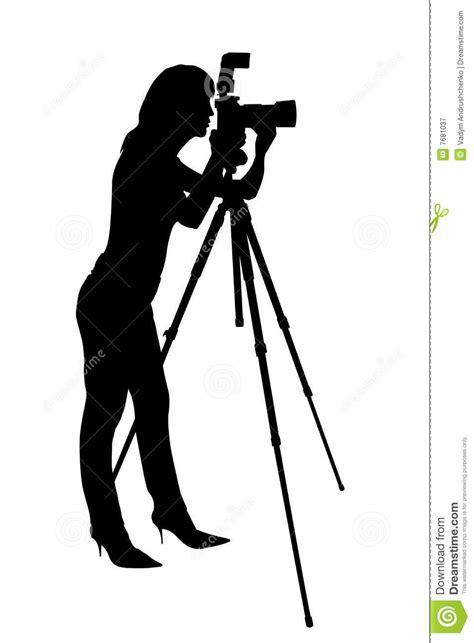 12238 photographer tripod silhouette photographer silhouette stock illustration image