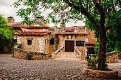 traditional dominican rural architecture stock photo
