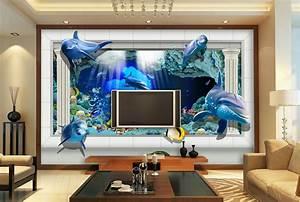 32 3d Wallpaper Living Room, 3D Wallpaper Beach Landscape ...