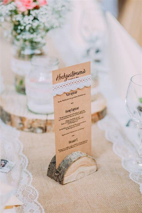 menuekarte hochzeit mit spitze vintage wedding