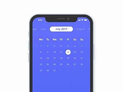 Calendar Figma Month Days Dribbble Mobile Russian