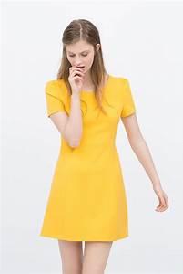 robe jaune de zara 20 tenues elegantes pour un mariage With zara robe jaune