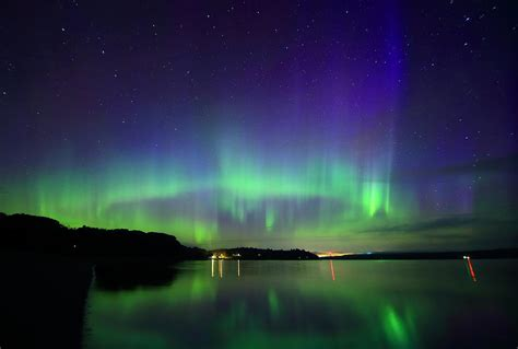 northern lights maine northern lights in maine photograph by barbara west