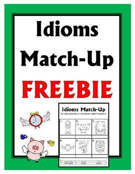idioms match  freebie  images idioms  phrases