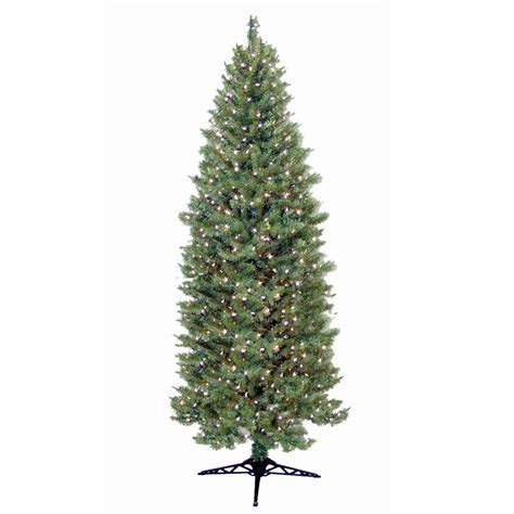 what artificial pre lit chridtmas are at home depot general foam 9 ft pre lit slender spruce artificial