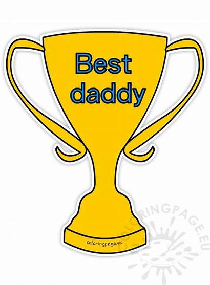 Clipart Daddy Cup Father Fathers Winner Eu