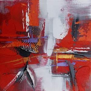 Tableau Contemporain Grand Format : tableau rouge blanc violet art abstrait e ~ Teatrodelosmanantiales.com Idées de Décoration