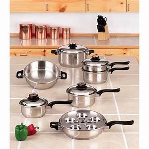 Worlds Finest Waterless Cookware Set [steam control valves]