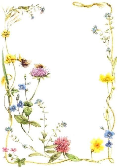 summer frame flower frame flower painting paint cards