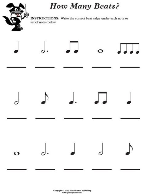 printable piano theory worksheets free theory worksheet piano pronto rhythm