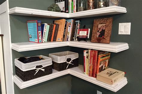 The Wide Ranges Of Ideas Of The Floating Corner Shelves