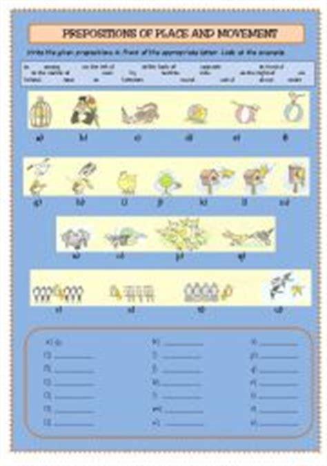 intermediate esl worksheets prepositions  place