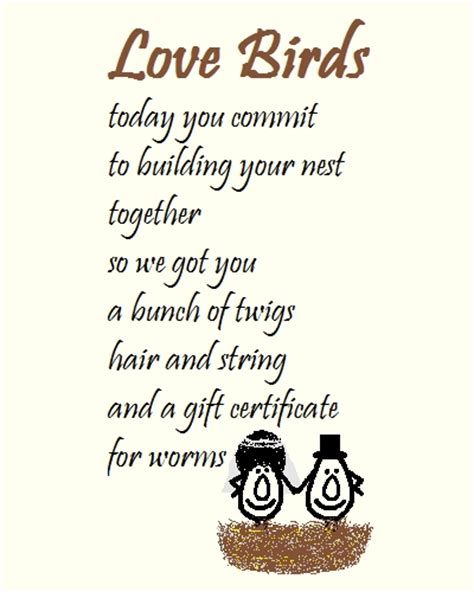 love birds  wedding congrats poem  congratulations ecards