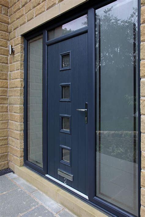bespoke genoa composite door  grey  integrated side panels  top light contemporary
