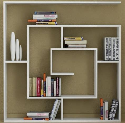 model desain rak buku minimalis furniture rumah
