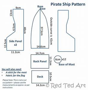 how to make a diy pirate ship red ted art39s blog With cardboard pirate ship template