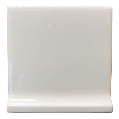 cove base ceramic tile shop interceramic wall tile white ceramic cove base tile common 4 in x 4 in actual 4 25 in x
