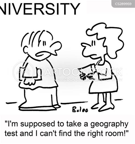 geography test cartoons  comics funny pictures