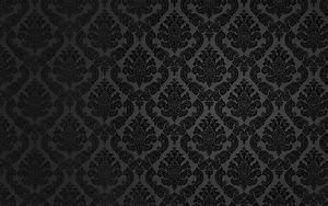 Black Damask Background Wallpaper