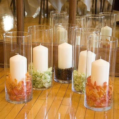 fall wedding centerpieces with pillar candles candle
