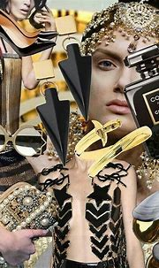 Collage Chanel Coco Noir gold   Fashion wallpaper, Fashion ...