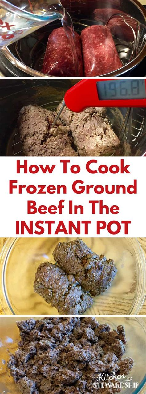 how does ground beef take to cook how to cook frozen ground beef in the instant pot pressure cooker