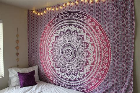 ombre shower curtain purple ombre mandala cotton wall tapestry bedding