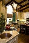 old world french country kitchen Modern French country kitchenexposed beams, distressed