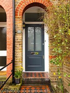 Slate, Grey, Victorian, Style, Door, With, Etched, Glass