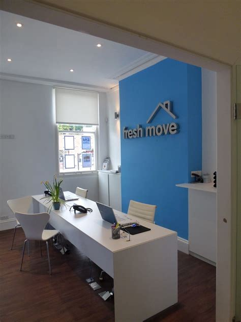 feature wall letting agency office design  home