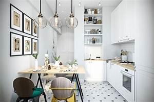 1001 conseils et idees pour la deco cuisine scandinave With idee deco cuisine avec deco sejour scandinave