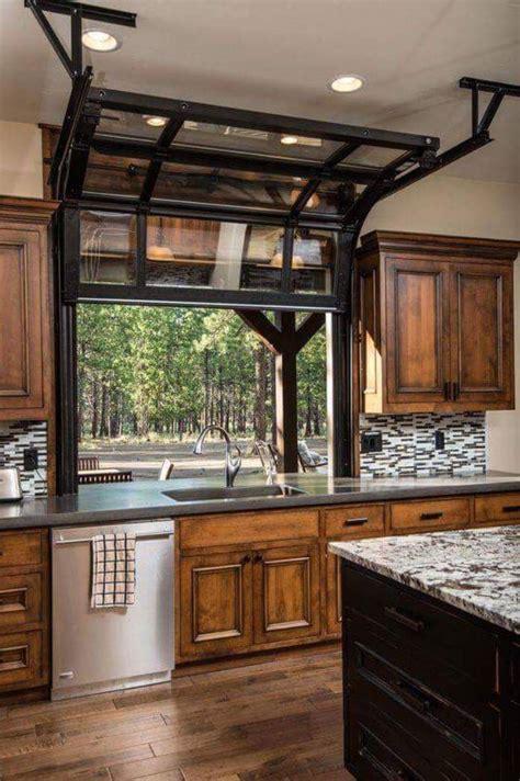 garage doors with windows garage door transformed into a kitchen window rebrn