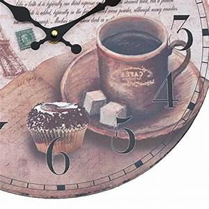 Große Wanduhr Holz : wanduhr coffee holz k chenuhr mit gro em ziffernblatt aus mdf retro uhr im angesagtem ~ Indierocktalk.com Haus und Dekorationen