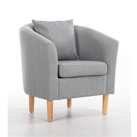 fabric tub chairs deluxe fabric tub chair armchair light
